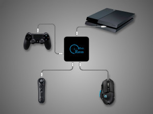PS4 Sony Move Navigation controller connection illustration